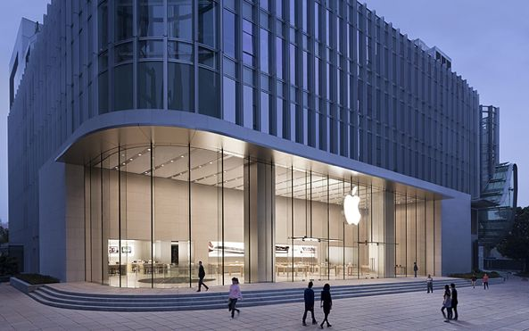 Apple store (Nanjing East, China, exterior 001)