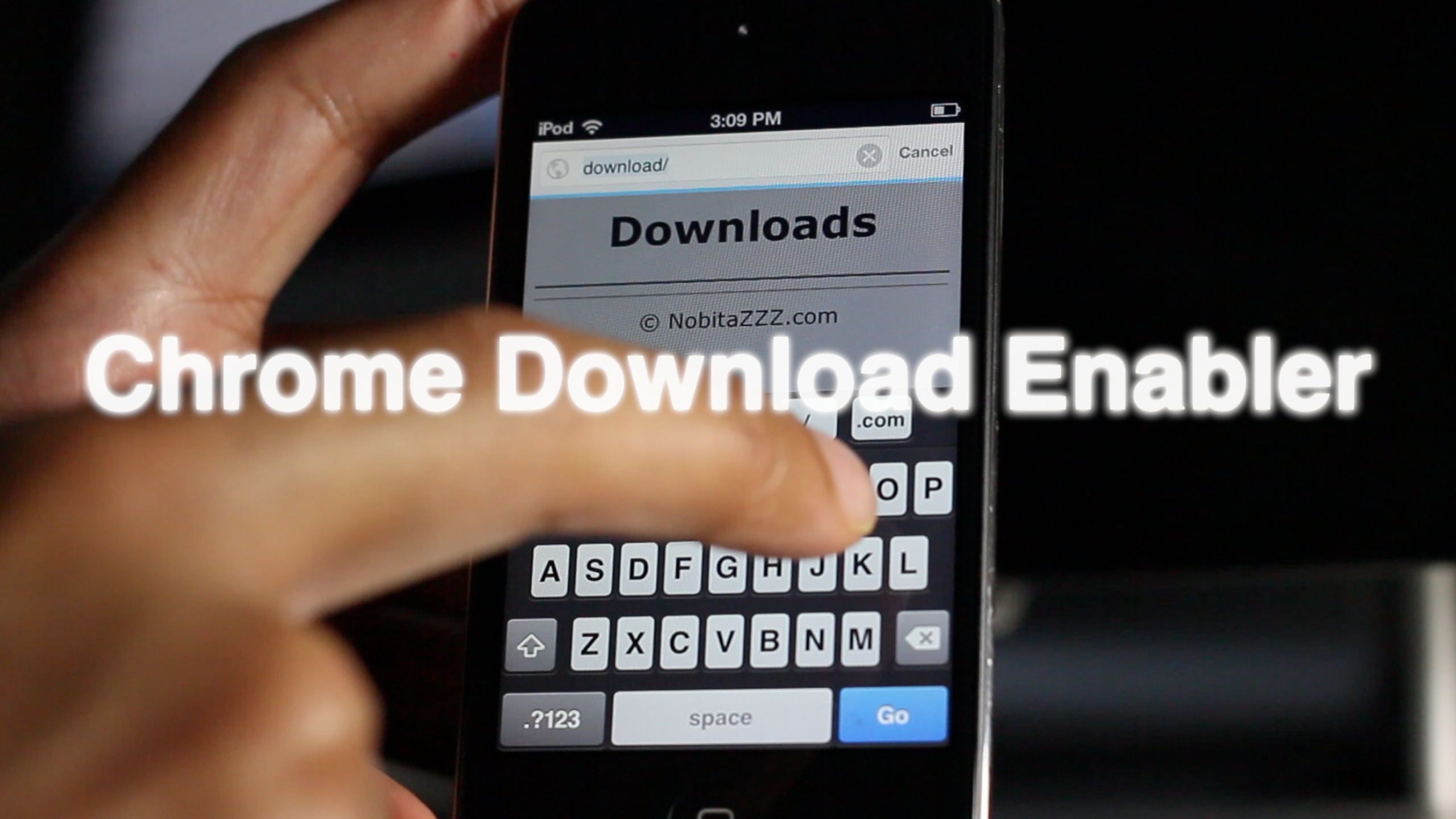 How to download files with Google Chrome on iOS