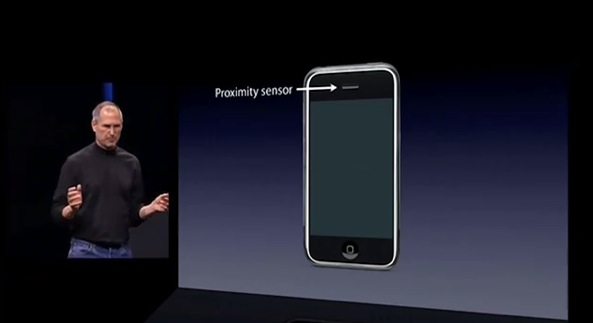 January 2007 iPhone introduction (Proximity sensor slide)