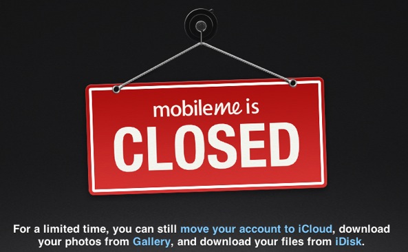 Apple officially shuts down MobileMe and iWork com