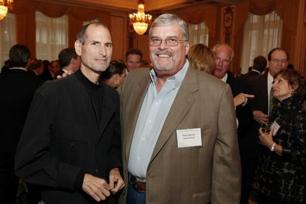 Steve Jobs and Stan Sigman