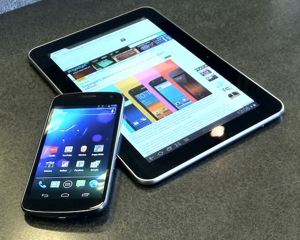 galaxy tab and nexus