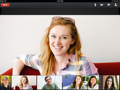 google+ hangouts ipad