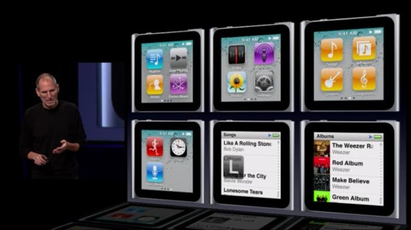 iPod nano keynote slide