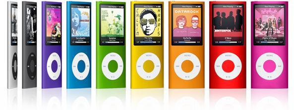 iPod nano tall colors