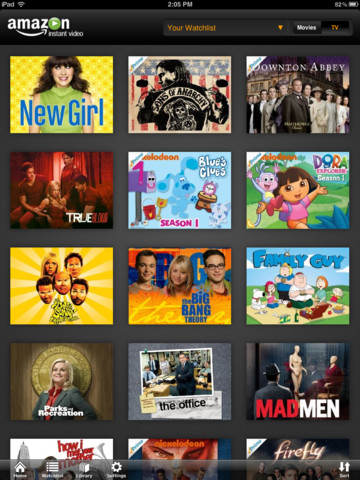 Amazon Instant Video for iOS (iPad screenshot 002)
