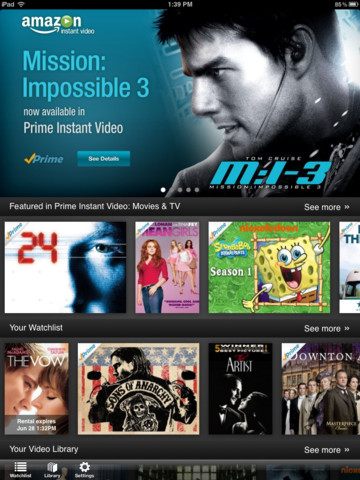 Amazon Instant Video for iOS (iPad screenshot 004)