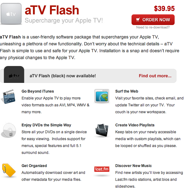 FireCore releases aTV Flash 4 5 for Apple TV