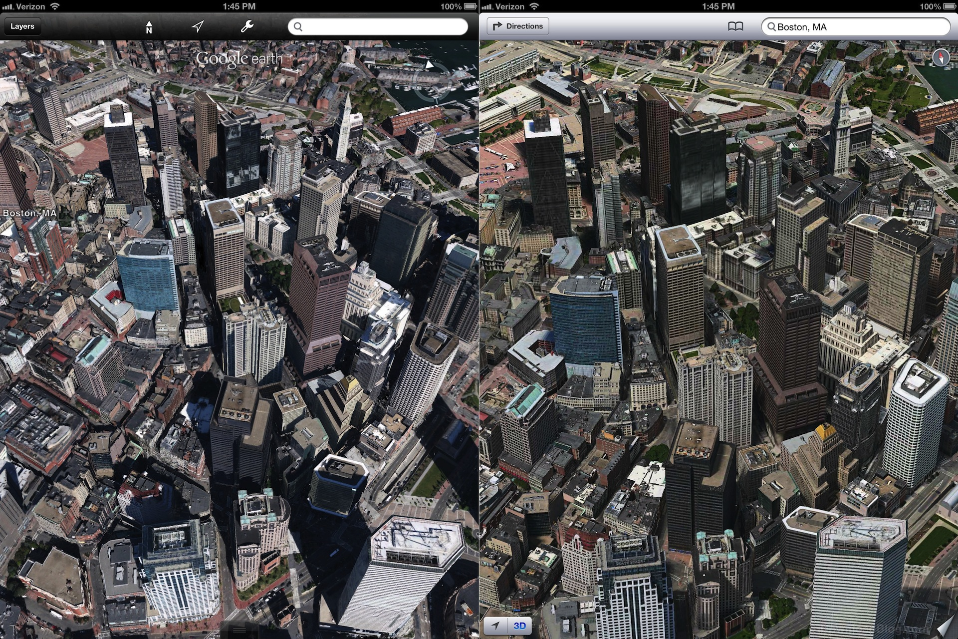 Apple's 3D maps look much better than Google's