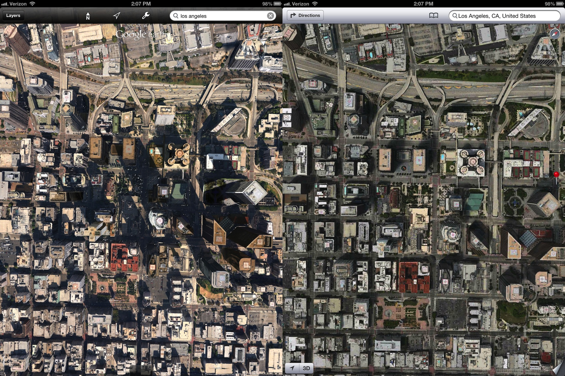 apple 39 s 3d maps look much better than google 39 s. Black Bedroom Furniture Sets. Home Design Ideas