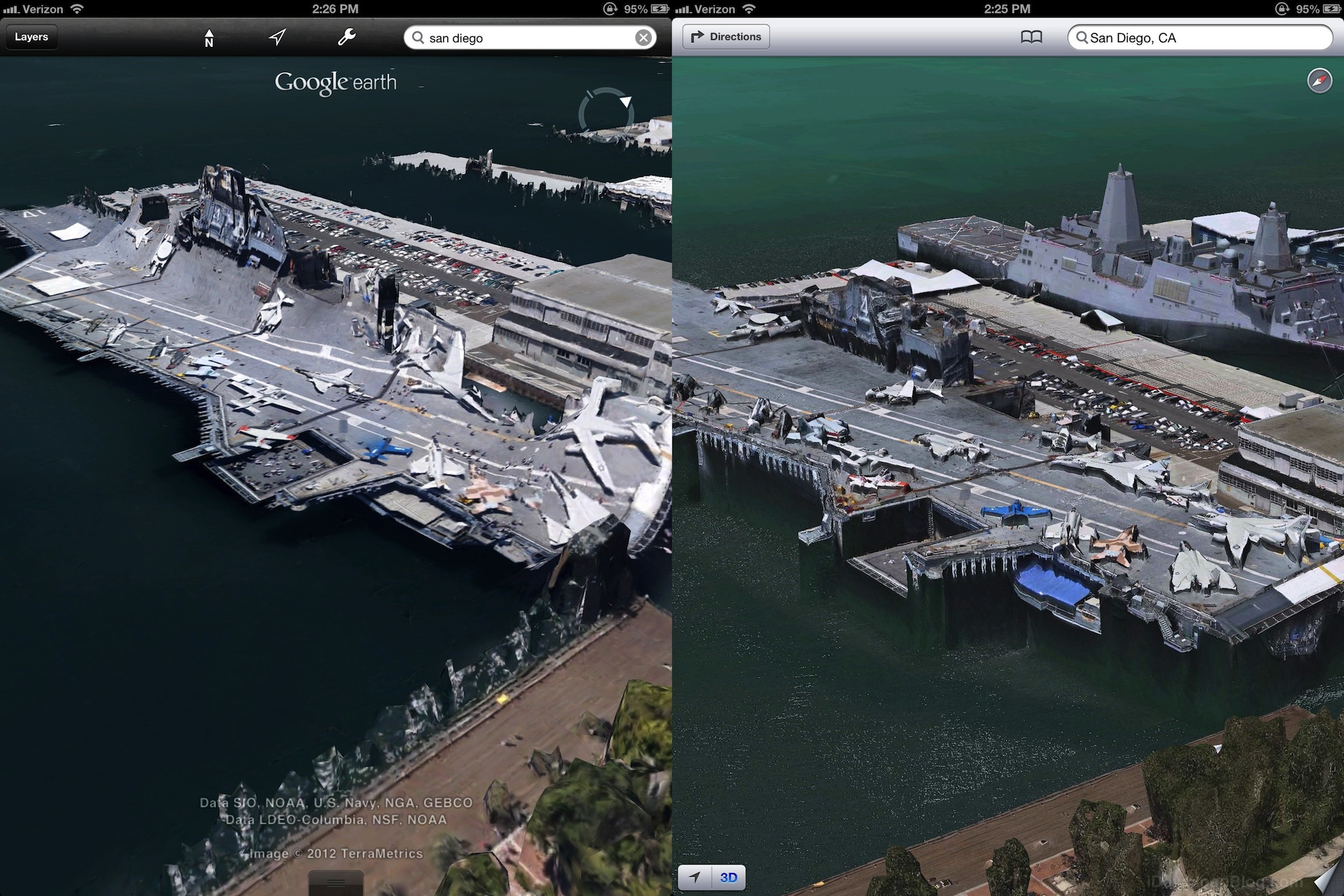 Apple's 3D maps look much better than Google's