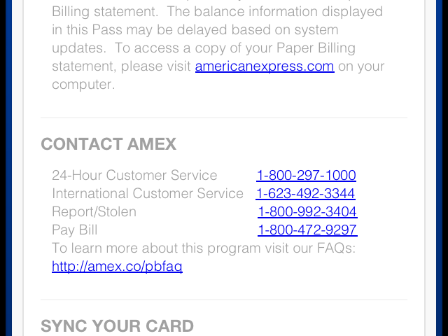 American Express 800 Number >> Taking The American Express Passbook Pass For A Spin