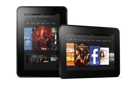 Kindle Fire HD (two up, front, portrat, landscape)