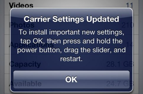 Carrier Settings Update: what it is and how to check for it