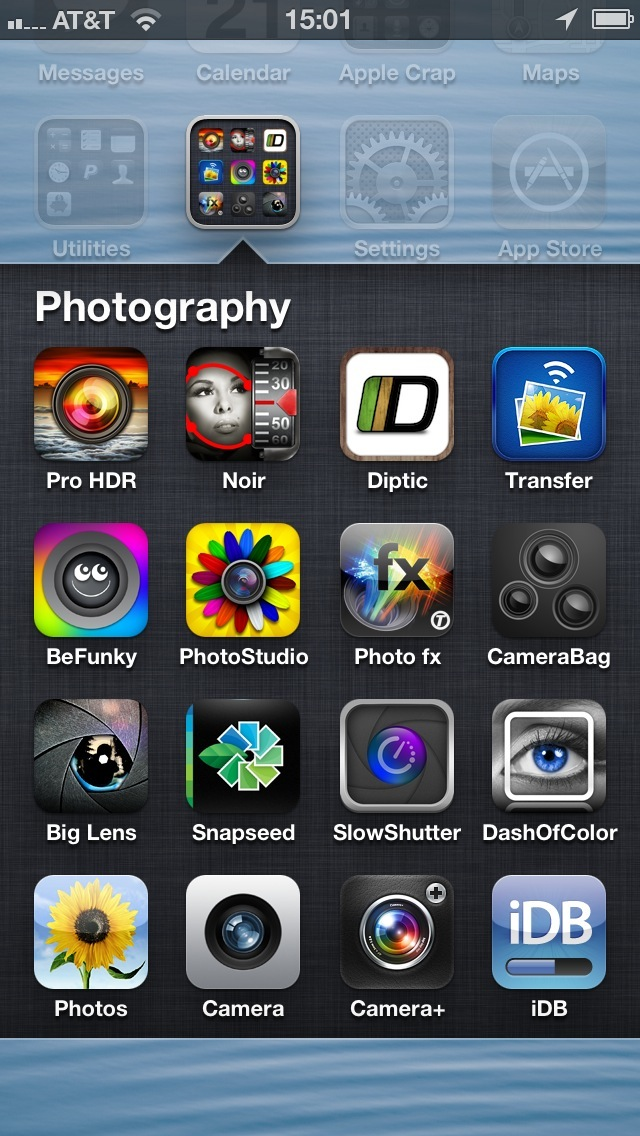iPhone 5 (folder with 16 apps)