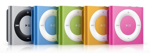 iPod shuffle (color, five up)