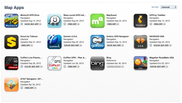 iTunes Store Map apps