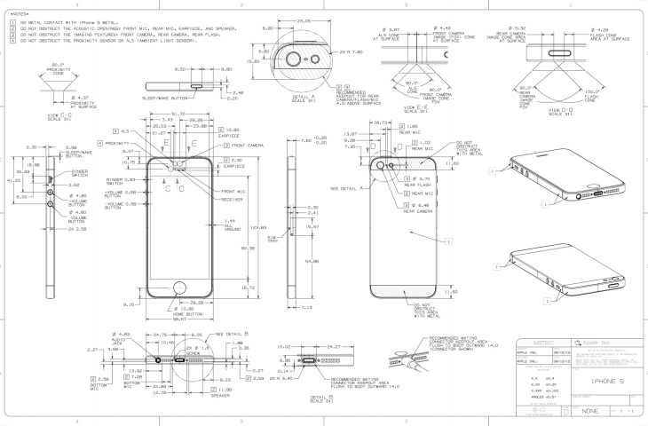Apple Posts Full Iphone 5 Schematics