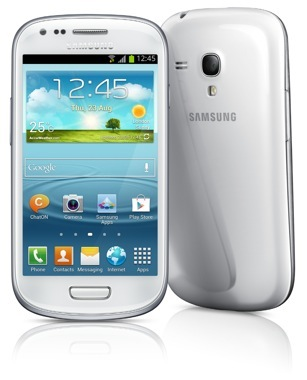 Samsung Galaxy S III Mini (two up, front, back)
