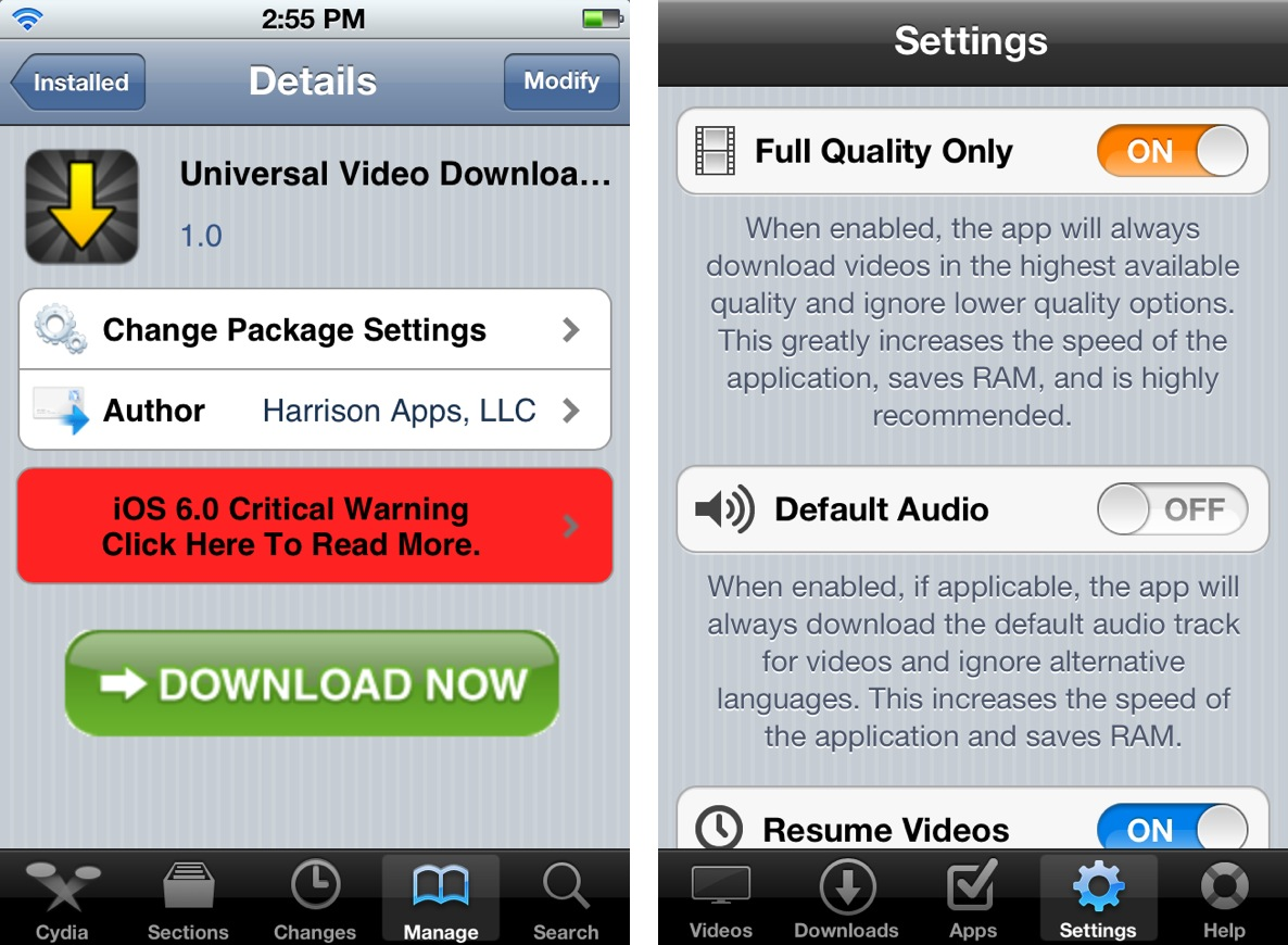 Universal Video Downloader allows you to extract video from