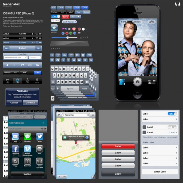iOS 6 GUI now available for download