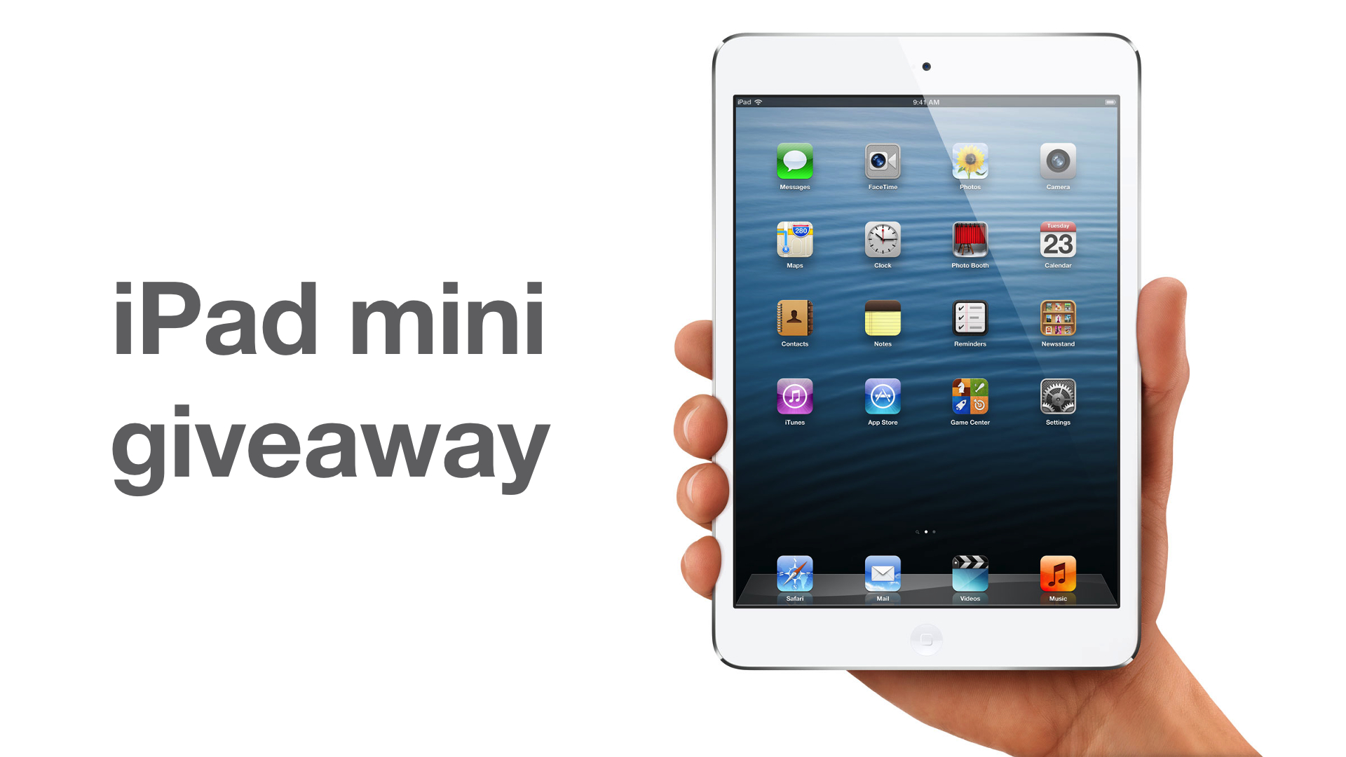 right this minute ipad mini giveaway and the winner of our second ipad mini giveaway is 738