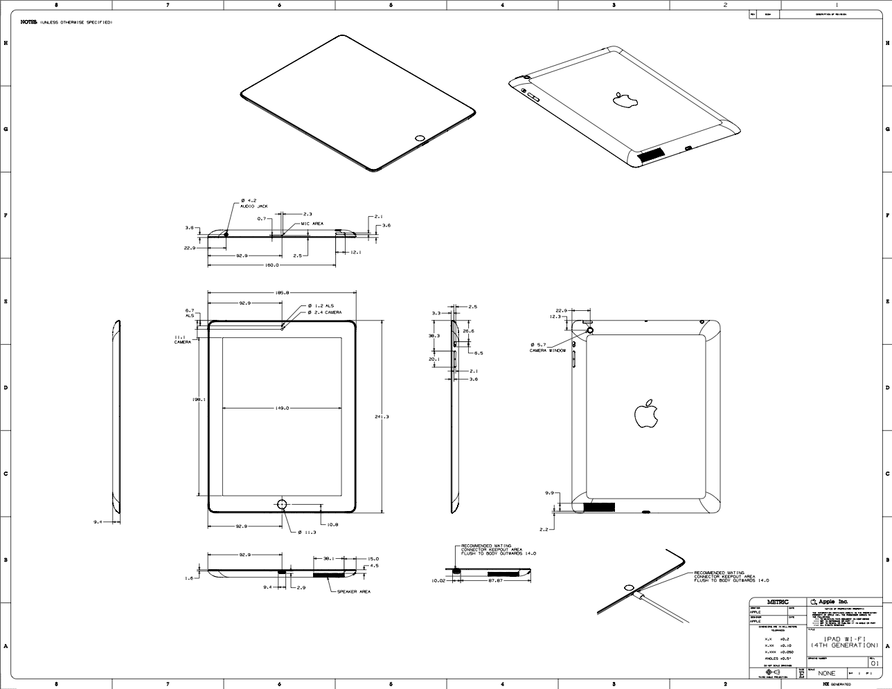 Diagram Of Ipad 4 Not Lossing Wiring 3 Circuit Apple Posts Schematics For The New And Mini Rh Idownloadblog Com 2