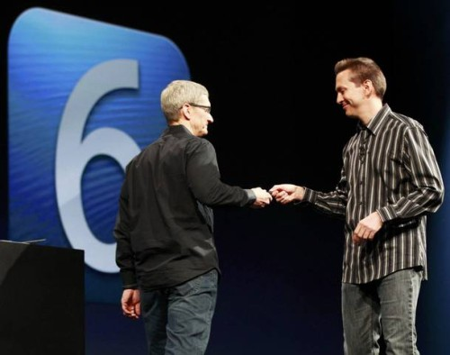 Scott Forstall, Tim Cook at WWDC 2012
