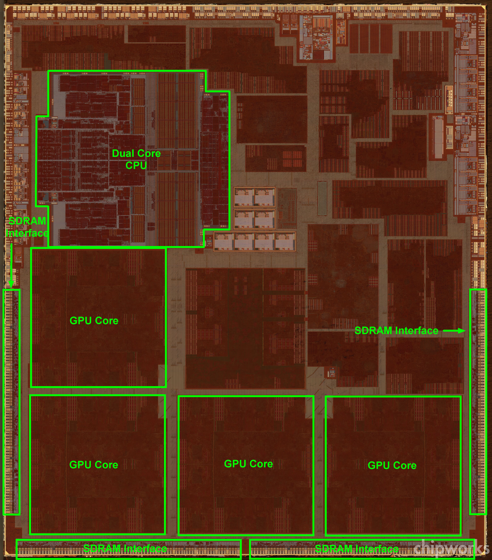 A6X floorplan (Chipworks 001)