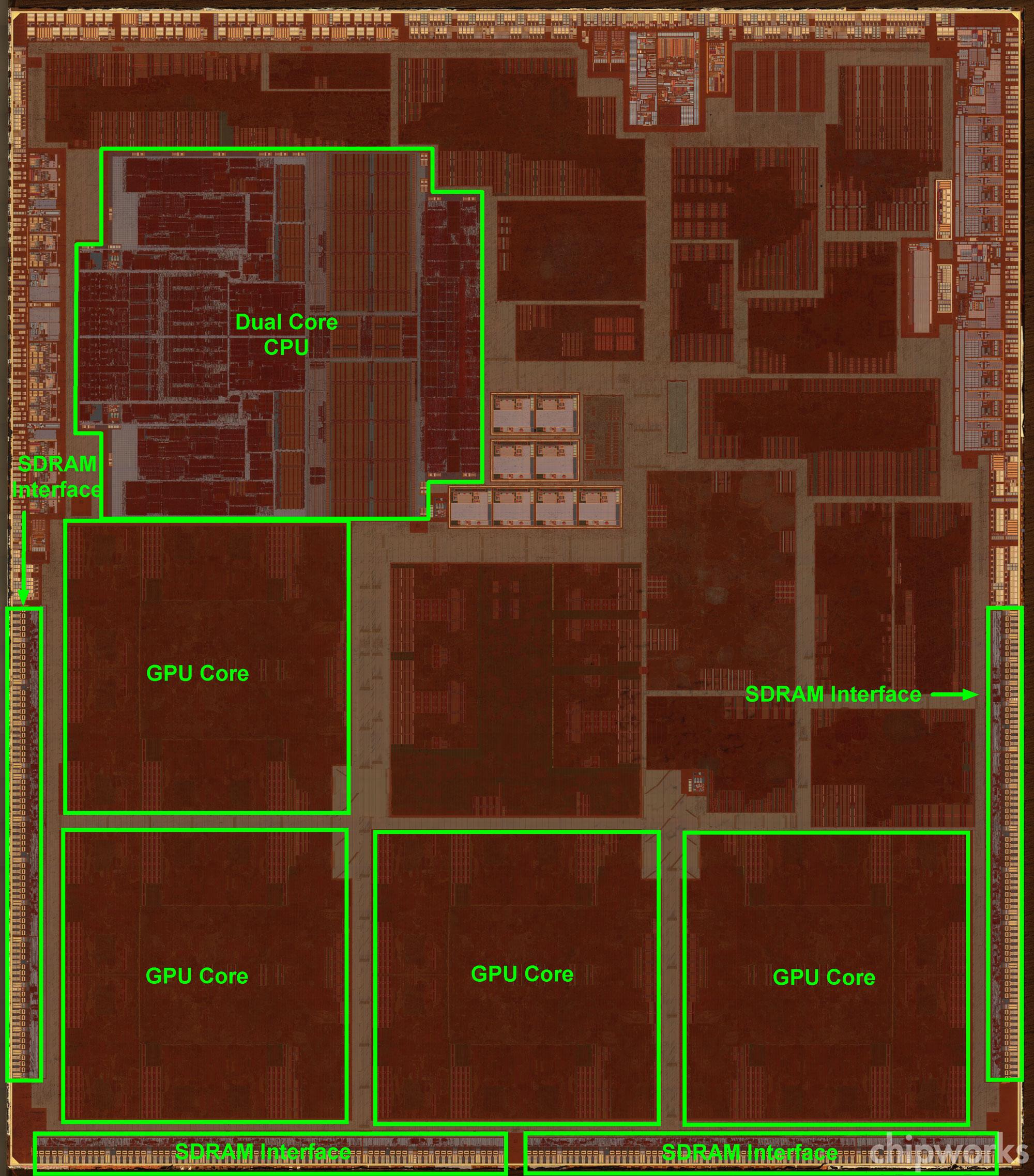 A6X floorplan (Chipworks 001)