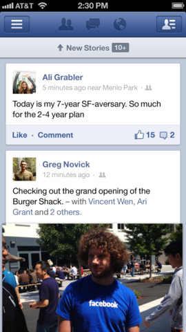 Facebook updates iOS app with quick chat tab, multiple photo sharing