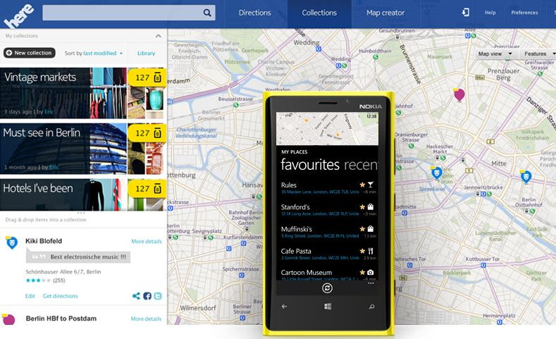 Nokia Here (Maps, Lumia)