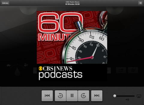 Podcasts for iOS (iPad screenshot 001)