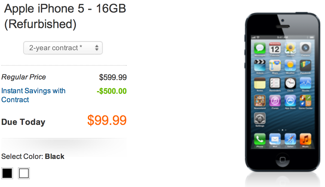40178cf66e46a7 AT&T now has refurbished iPhone 5 starting at $99