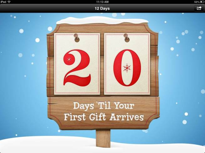 Apple 12 days of christmas app gifts