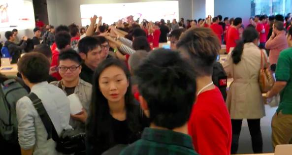 Apple store opening in Hong Kong