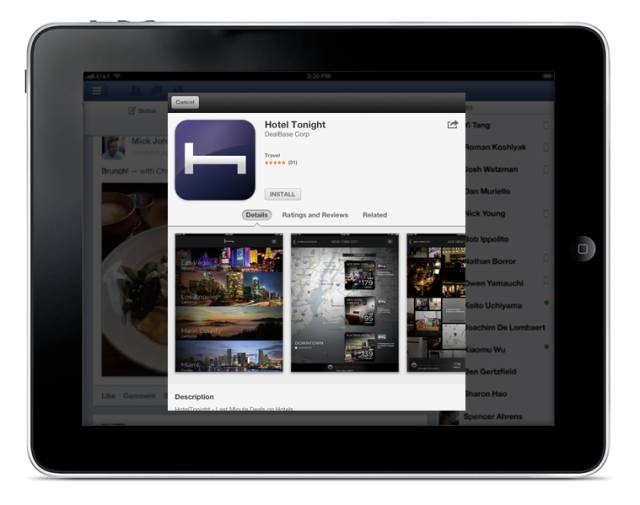 Facebook for iOS (App Store installs 001)