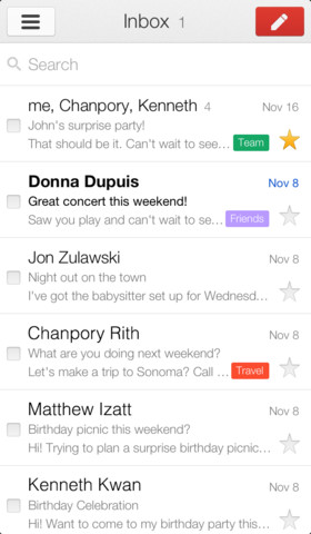 search email on iphone gmail updated sleek ui accounts search 16084