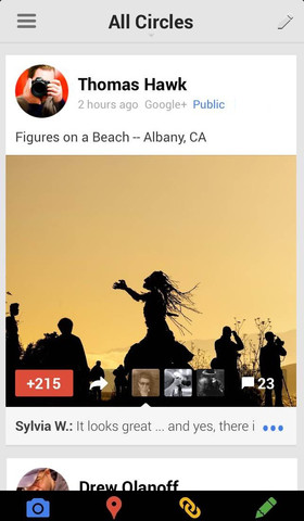Google Plus 4.0 for iOS (iPhone screenshot 001)