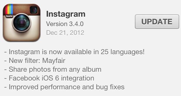Instagram update Dec 20