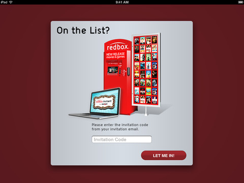 Redbox Instant 1.0 for iOS (iPad screenshot 001)
