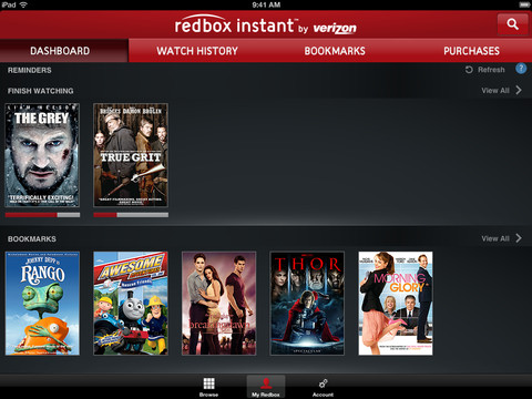 Redbox Instant 1.0 for iOS (iPad screenshot 002)