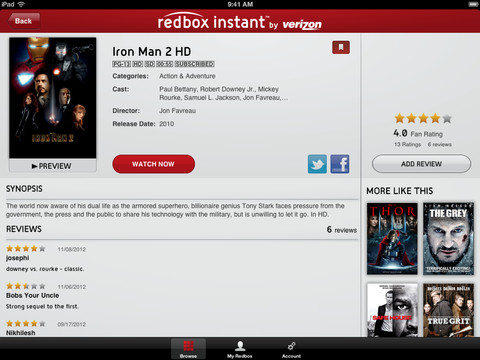 Redbox Instant 1.0 for iOS (iPad screenshot 004)