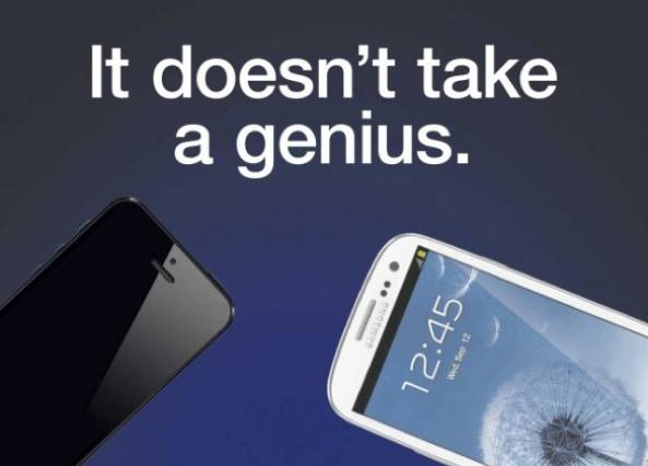 Samsung anti-iPhone ad (it doesnt take a genius)