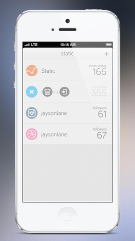 Static 1.0 for iOS (iPhone screenshot 002)