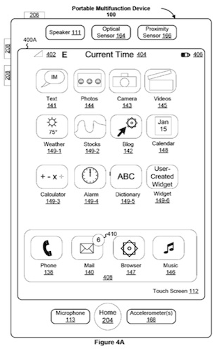 Steve Jobs iPhone patent (drawing 001)