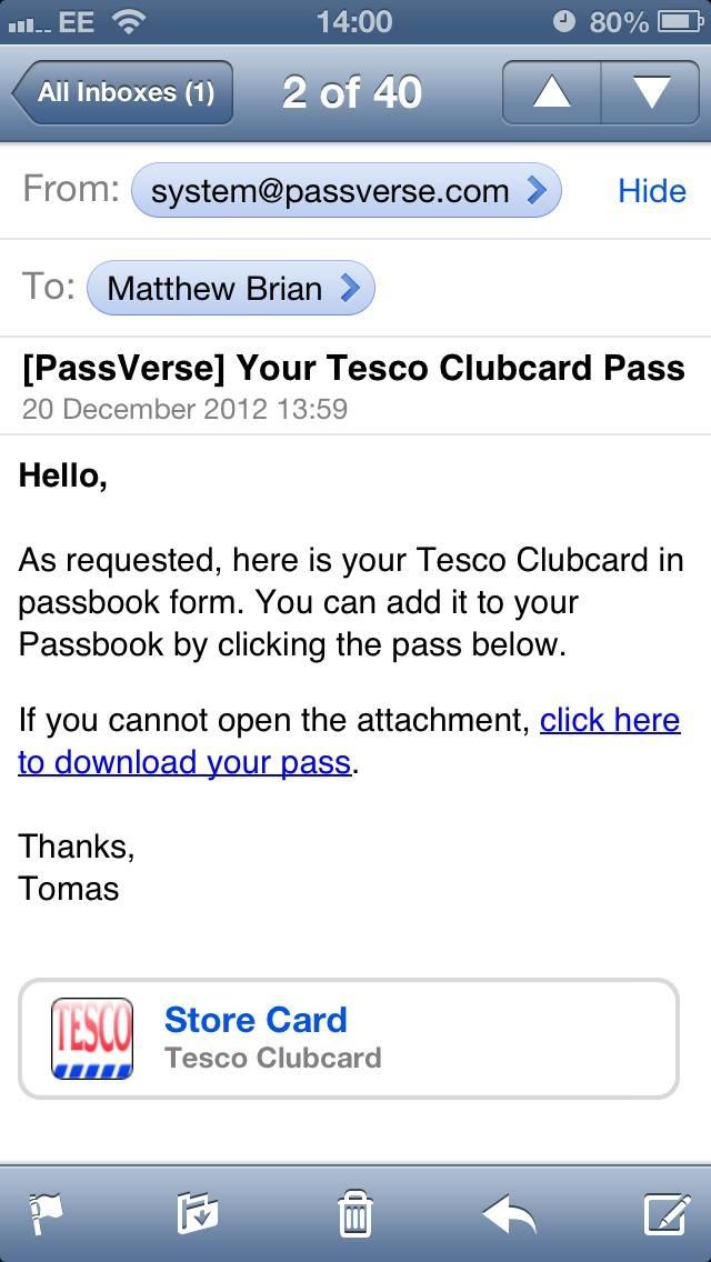 Tesco Passbook (image 001)