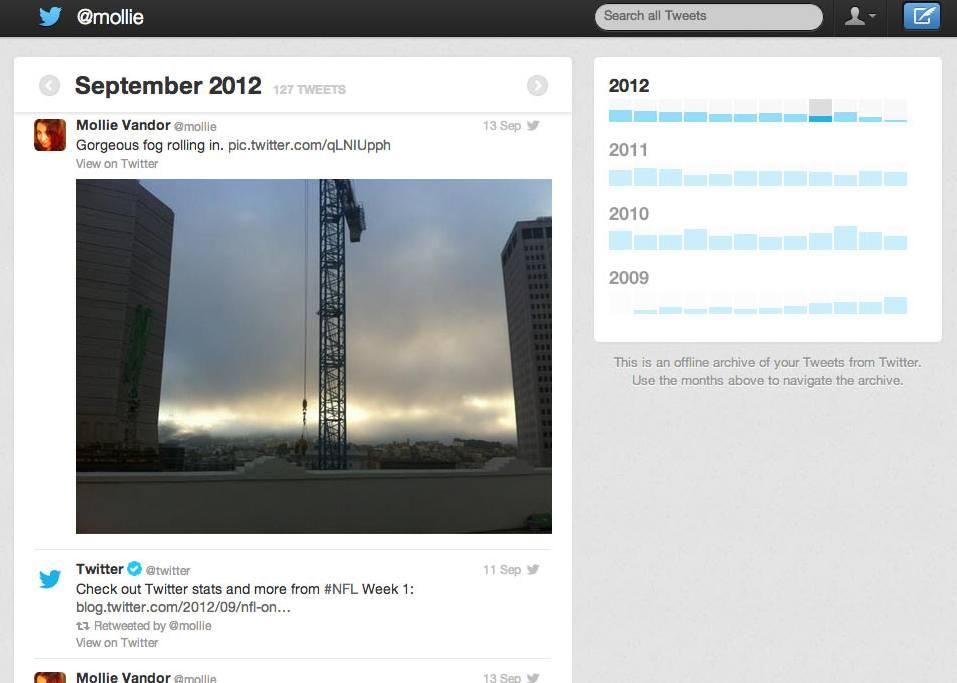 Twitter archive teaser