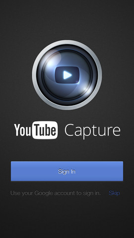YouTube Capture 1.0 for iOS (iPhone screenshot 001)