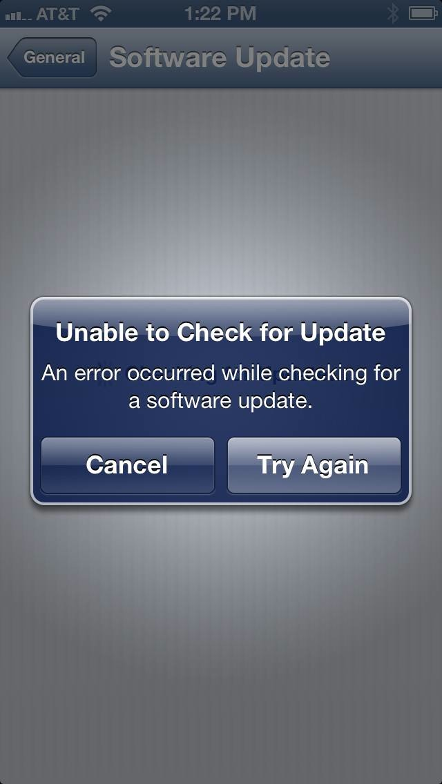 iOS Software Update not available